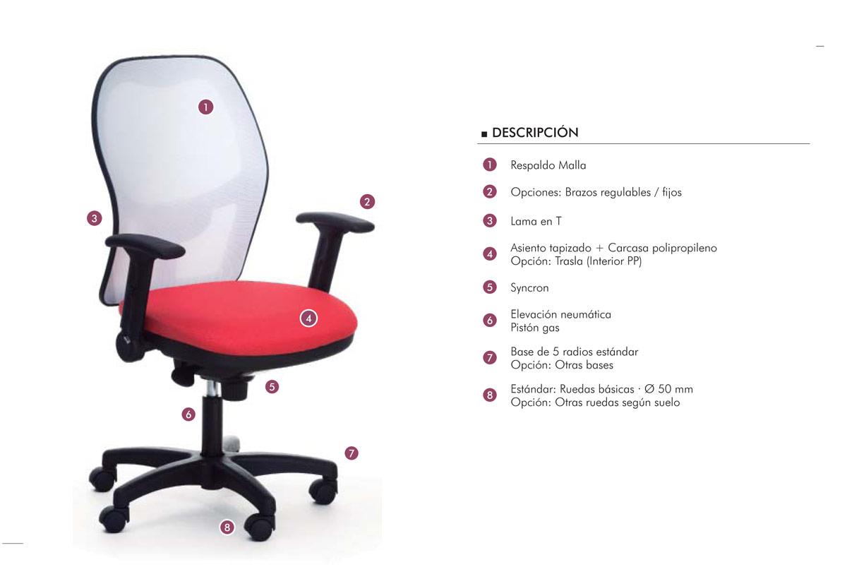 Silla work ergonom a y precio grumar trading for Sillas ergonomicas precios